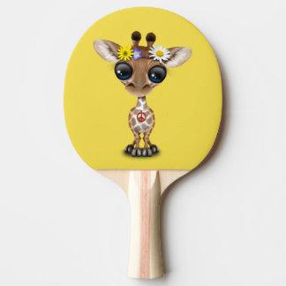 Cute Baby Giraffe Hippie Ping Pong Paddle