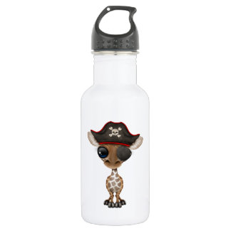 Cute Baby Giraffe Pirate 532 Ml Water Bottle