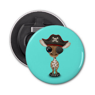 Cute Baby Giraffe Pirate Bottle Opener