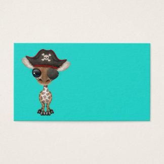 Cute Baby Giraffe Pirate Business Card