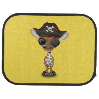 Cute Baby Giraffe Pirate Car Mat