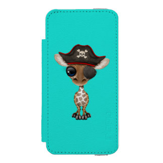 Cute Baby Giraffe Pirate Incipio Watson™ iPhone 5 Wallet Case