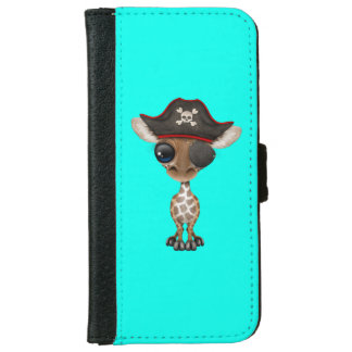 Cute Baby Giraffe Pirate iPhone 6 Wallet Case