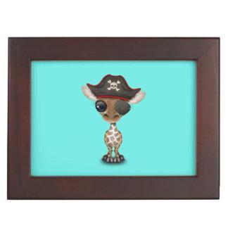 Cute Baby Giraffe Pirate Keepsake Box