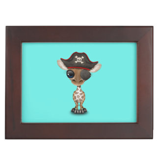 Cute Baby Giraffe Pirate Keepsake Boxes