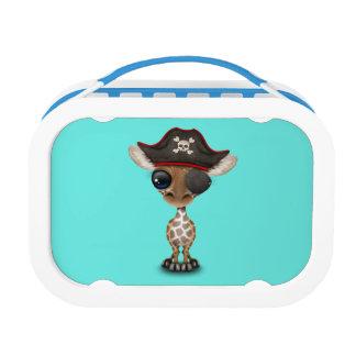 Cute Baby Giraffe Pirate Lunch Box