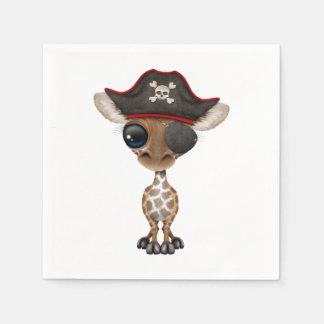 Cute Baby Giraffe Pirate Paper Serviettes