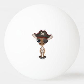 Cute Baby Giraffe Pirate Ping Pong Ball