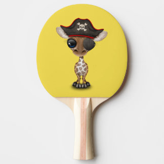 Cute Baby Giraffe Pirate Ping Pong Paddle