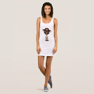 Cute Baby Giraffe Pirate Sleeveless Dress