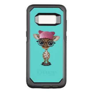 Cute Baby Giraffe Wearing Pussy Hat OtterBox Commuter Samsung Galaxy S8 Case