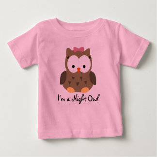 Cute Baby Girl Night Owl T-Shirt