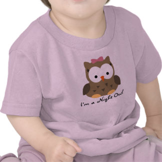 Cute Baby Girl Night Owl T-Shirt