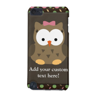 Cute Baby Girl Owl with Pink Bow iPod Touch 5G Covers