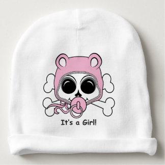 Cute Baby Girl Skull Baby Beanie