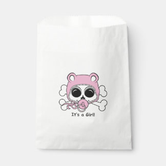 Cute Baby Girl Skull Favour Bag