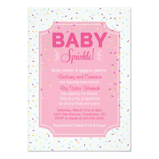 Cute Baby Girl Sprinkle Invitation