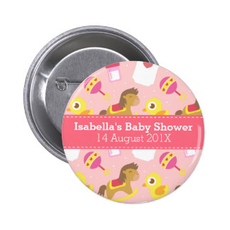 Cute Baby Girl Toys, Baby Shower Party Favor 6 Cm Round Badge
