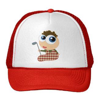 Cute Baby Golfer Golfing Gift Mesh Hats