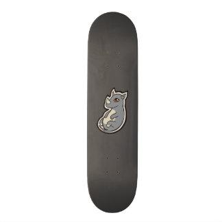 Cute Baby Gray Rhino Big Eyes Ink Drawing Design 21.6 Cm Old School Skateboard Deck