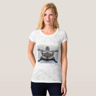 Cute Baby Ground Squirrel Women's Burned Out Tee
