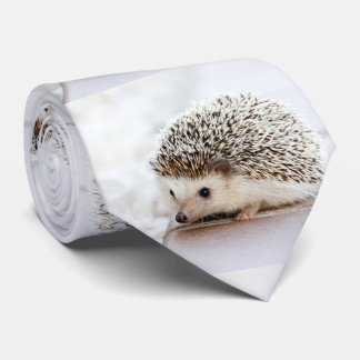 Cute Baby Hedgehog Photo Template Tie