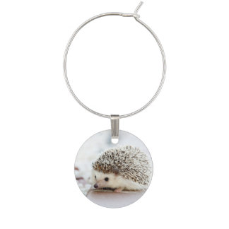 Cute Baby Hedgehog Wine Charm