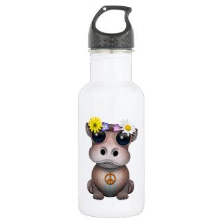 Cute Baby Hippo Hippie 532 Ml Water Bottle