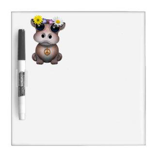 Cute Baby Hippo Hippie Dry Erase Board