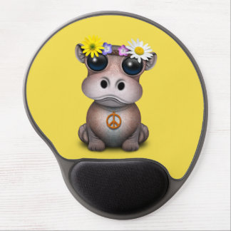 Cute Baby Hippo Hippie Gel Mouse Pad