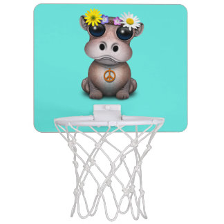Cute Baby Hippo Hippie Mini Basketball Hoop