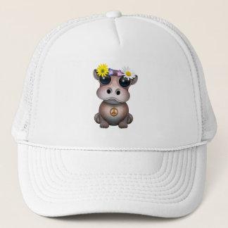 Cute Baby Hippo Hippie Trucker Hat
