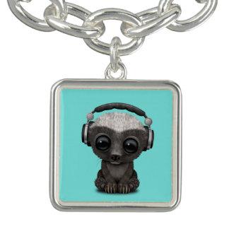 Cute Baby Honey Badger Dj Wearing Headphones