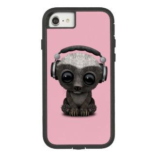 Cute Baby Honey Badger Dj Wearing Headphones Case-Mate Tough Extreme iPhone 8/7 Case