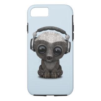 Cute Baby Honey Badger Dj Wearing Headphones iPhone 8/7 Case