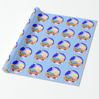 Cute Baby Jesus And Star Wrapping Paper