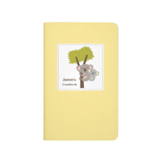 Cute Baby Koala Bear and Mommy Baby Shower Journals