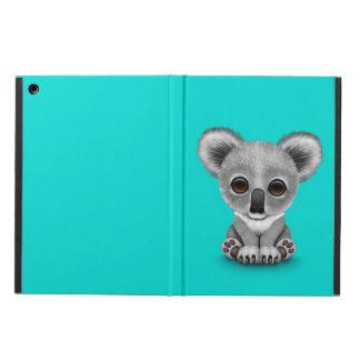 Cute Baby Koala Bear Cub on Blue iPad Air Cover