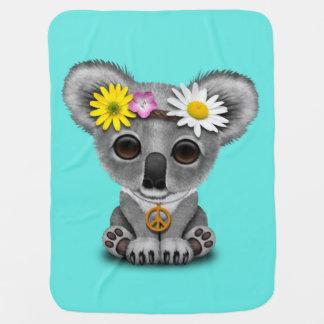 Cute Baby Koala Hippie Baby Blanket