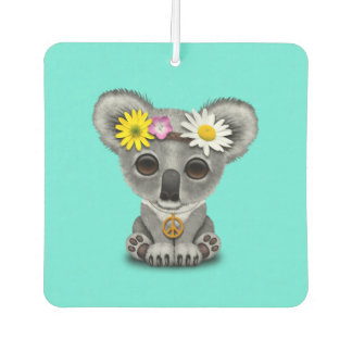 Cute Baby Koala Hippie Car Air Freshener
