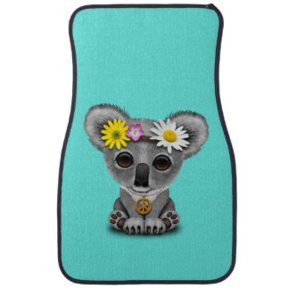 Cute Baby Koala Hippie Car Mat