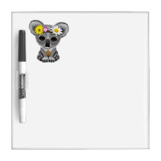 Cute Baby Koala Hippie Dry Erase Board