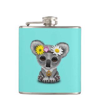 Cute Baby Koala Hippie Hip Flask