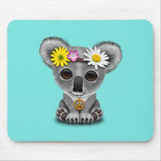 Cute Baby Koala Hippie Mouse Pad