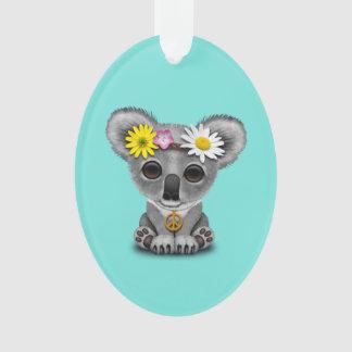 Cute Baby Koala Hippie Ornament