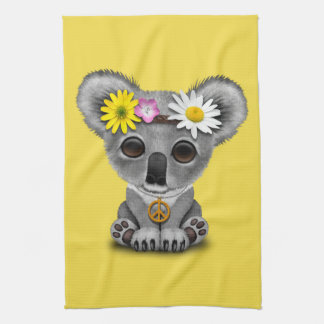 Cute Baby Koala Hippie Tea Towel