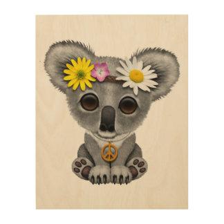 Cute Baby Koala Hippie Wood Wall Decor