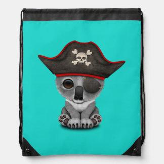 Cute Baby Koala Pirate Drawstring Bag