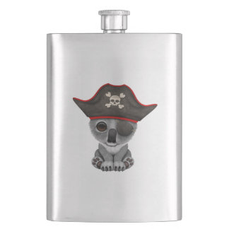Cute Baby Koala Pirate Hip Flask