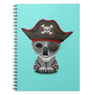 Cute Baby Koala Pirate Notebooks